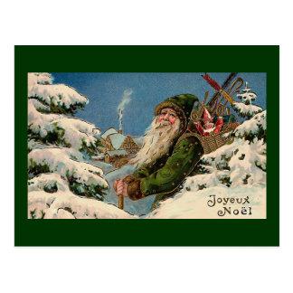 """Het Vintage Briefkaart van """"Joyeux Noel"""""""