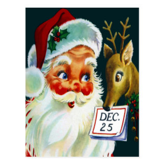 Het vintage Briefkaart van Kerstmis van de