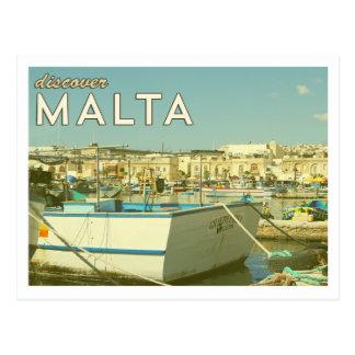 Het vintage Briefkaart van Malta