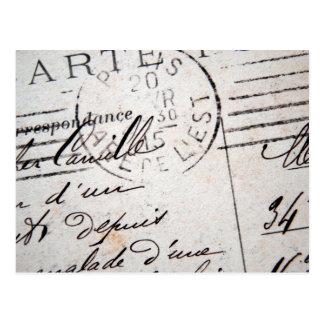 Het vintage Briefkaart van Parijs, Cher Camille….