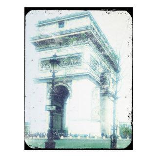 Het vintage Briefkaart van Parijs van de Stijl, de