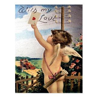 Het vintage Briefkaart van Valentijn