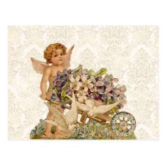 Het vintage Briefkaart van Valentijn van de