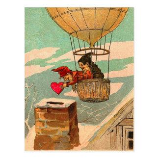 Het vintage Briefkaart van Valentijn van de Ballon