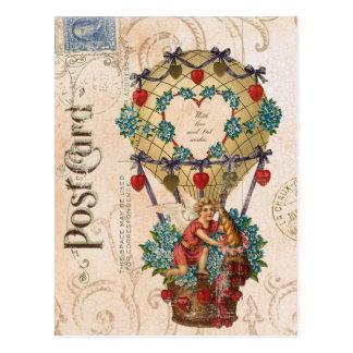 Het vintage briefkaart van Valentijn van de Hete