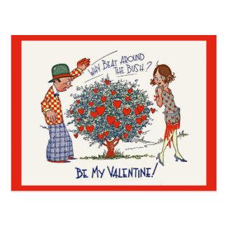 Het vintage Briefkaart van Valentijn van de Vin