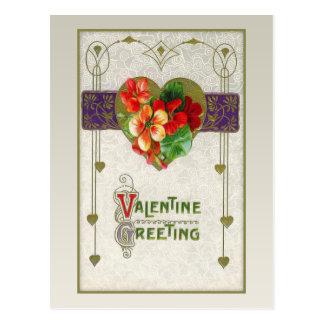 Het vintage Briefkaart van Valentijn van Harten en