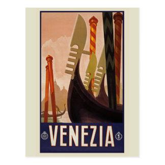 Het Vintage Briefkaart van Venezia