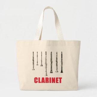 Het vintage Canvas tas van de Klarinet