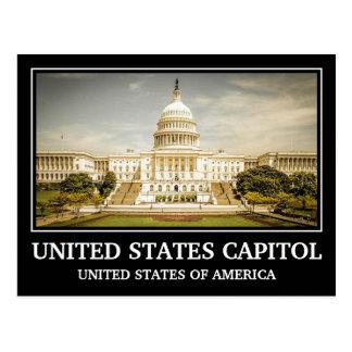 Het vintage Capitool van Verenigde Staten Briefkaart