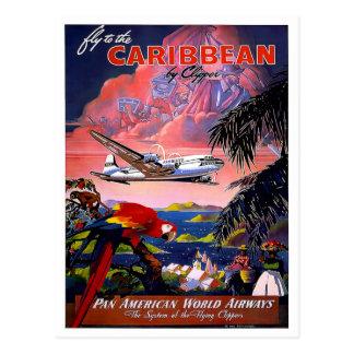 Het vintage Caraïbische Briefkaart van de Reis