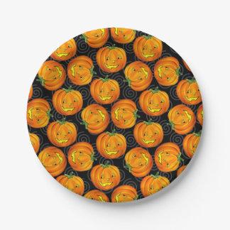 Het vintage de hefboom-o-Lantaarn van Halloween Papieren Bordjes