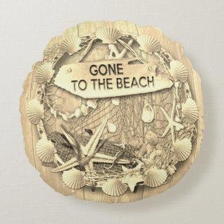 Het vintage die Kussen van het Strand - naar het