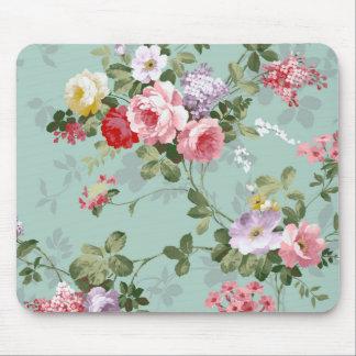 Het vintage Elegante Rozerode Patroon van Rozen Muismat