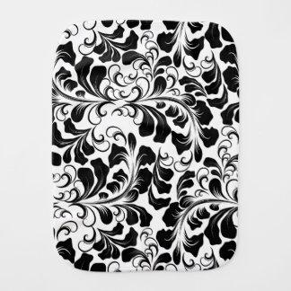 Het vintage elegante zwart-witte patroon van spuugdoekje