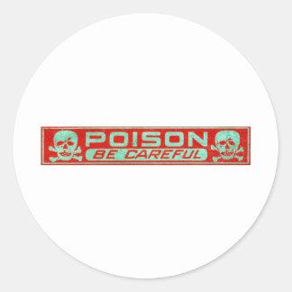 Het vintage Etiket van het Vergift