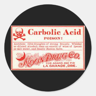 Het vintage Etiket van het Vergift van de Carbol