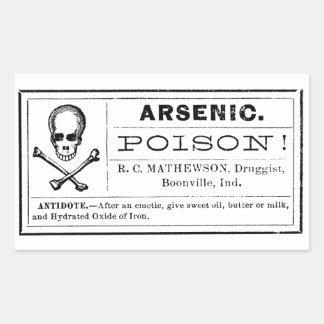 Het vintage Etiket van het Vergift van het Rechthoekvormige Stickers