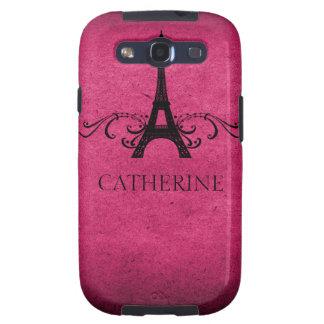Het vintage Frans bloeit het Roze Geval van SG S3, Galaxy SIII Cover