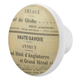 Het vintage Frans trekt Trekkracht Keramische Knop