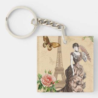 Het vintage Frans vormt elegante keychain Sleutelhanger