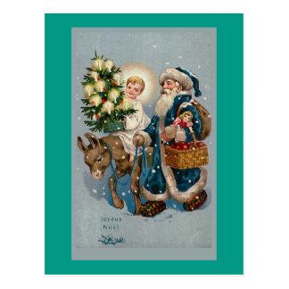 Het vintage Franse Briefkaart van de Kerstkaart