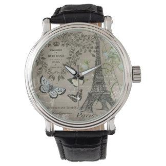 Het vintage Franse horloge van de Toren van Eiffel