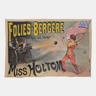 Het vintage Franse Poster van de Bijzaak van het Theedoek