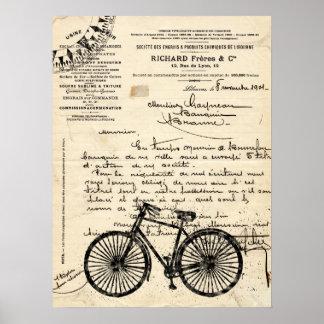 Het vintage Franse Poster van de Fiets