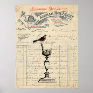 Het vintage Franse Poster van Themed van de Wijn