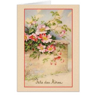 Het vintage Franse Wenskaart van het Moederdag