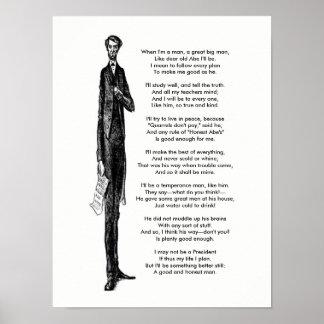 Het Vintage Gedicht van de Hulde van Abraham Poster