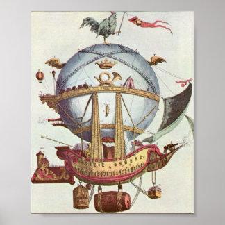 Het vintage Gekke Poster van de Ballon