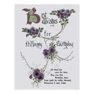 Het vintage Gelukkige briefkaart van de Verjaardag