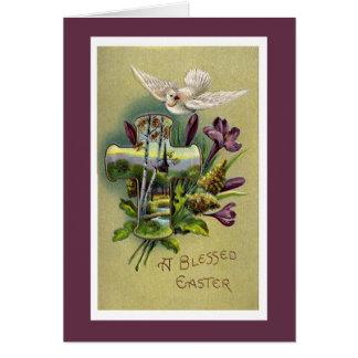 Het vintage Godsdienstige DwarsWenskaart van Pasen Briefkaarten 0