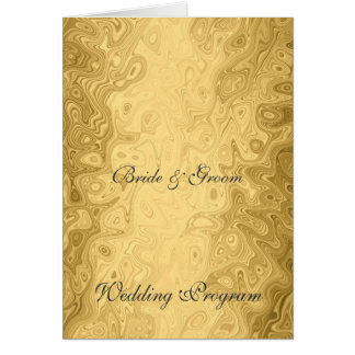 Het vintage Gouden Programma van het Huwelijk Wenskaart