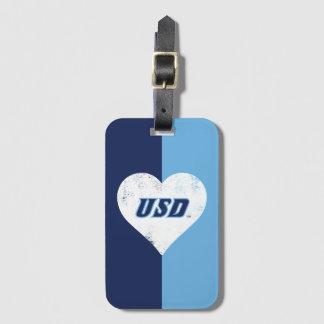 Het Vintage Hart van USD Bagagelabel