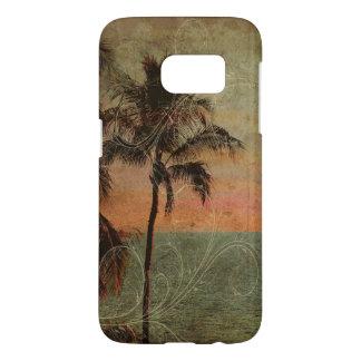 Het Vintage Hawaiiaanse Strand van PixDezines, Samsung Galaxy S7 Hoesje