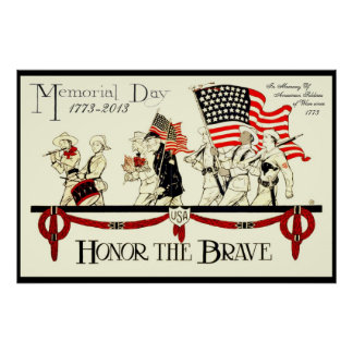 het vintage herdenkingsdagposter V2 PAST VAN 8.99 Poster