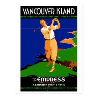 Het Vintage Herstelde Poster van het Eiland van de Briefkaart