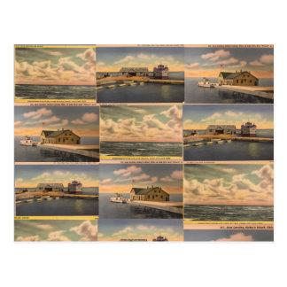 """Het vintage het """"Eiland van Kelley Briefkaart, van Briefkaart"""