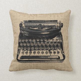 Het vintage Hoofdkussen van de Schrijfmachine Sierkussen