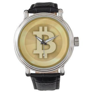 Het vintage Horloge van Bitcoin van de Riem van