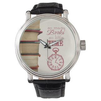 """het vintage horloge van boekminnaars """"zo Vele"""