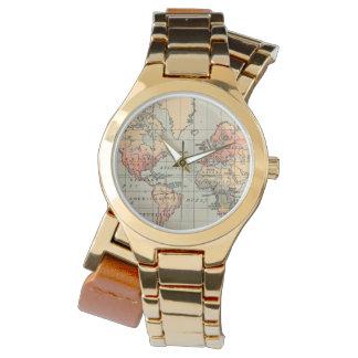 Het vintage Horloge van de Omslag van de Kaart van