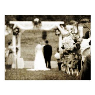 Het vintage Huwelijk bewaart de Datum Briefkaart
