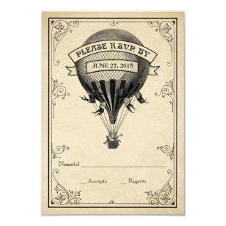 Het vintage Huwelijk RSVP van de Ballon van de 8,9x12,7 Uitnodiging Kaart