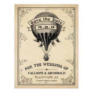 Het vintage Huwelijk van de Ballon van de Hete Briefkaart