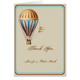 Het vintage Huwelijk van de Ballon van de Hete Notitiekaart