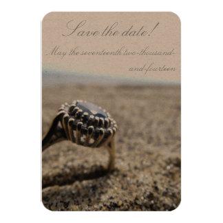 Het vintage Huwelijk van het Strand bewaart de 8,9x12,7 Uitnodiging Kaart